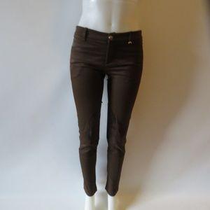 WOMENS GUCCI BROWN PANTS SZ 40 (SMALL) *